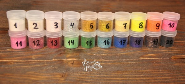 Цветные блестки, 10 гр